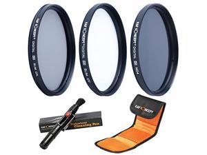 K&F Concept 62mm UV CPL ND4 Lens Accessory Filter Kit UV Protector Circular Polarizing Filter Neutral Density Filter for Sony Alpha A57 A77 A65 DSLR Cameras + Cleaning Pen + Filter Bag Pouch