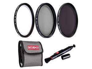 Beschoi 62mm High-precision Lens Filter Kit ( UV CPL ND4 ) Professional Filter with Cleaning Pen +Filter Pouch Bag for SLR/DSLR Camera