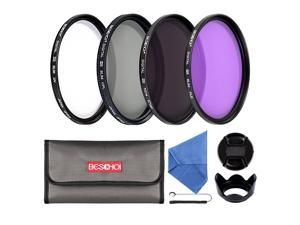 Beschoi 58mm UV CPL FLD ND4 Lens Accessory Filter Kit UV Protector Circular Polarizing Filter Neutral Density Filter for Canon 600D EOS M M2 700D 100D 1100D 1200D 650D DSLR Cameras