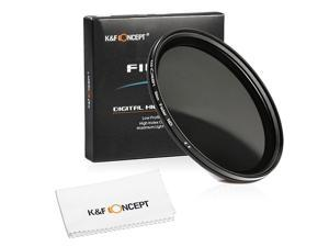 K&F Concept® 55mm Slim Fader Variable ND Neutral Density Adjustable ND2 to ND400 Lens Filter for DSLR Cameras