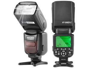 Speedlite Flash, K&F Concept KF590C Professional E-TTL Flash with Auto-Focus Wireless Slave Function for Canon DSLR Camera