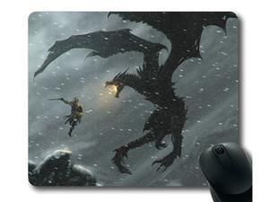 "for the Elder Scrolls V Skyrim Mousepad,Customized Rectangle Mouse Pad 8"" x 9"""
