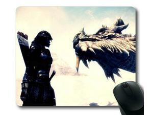 "for The Elder Scrolls V Skyrim Dragon II Mousepad,Customized Rectangle Mouse Pad 9"" x 10"""