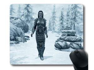 "for Skyrim logo Mousepad, Customized Rectangle Mouse pad 8"" x 9"""