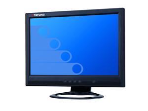 "TATUNG W9005S-D black 19"" 5ms widescreen LCD monitor 300cd/m2 1000:1 VGA DVI input build in speakers"