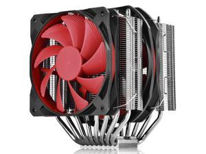 DEEPCOOL GamerStorm ASSASSIN II CPU Cooler 8 Heatpipes Dual PWM Fans&FDB Bearing 300RPM Min. Nickel-plated fins