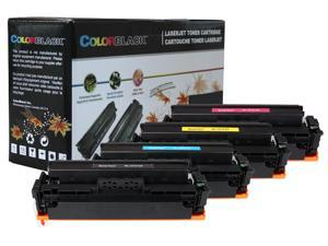 ColorBlack Set of 4 Colors Premium Compatible HP 410X (CF410X CF411X CF412X CF413X) Toner Cartridge, Chip, ISO19798 Certified Page Yield&#59; For HP Pro M452 M452dn&#59; MFP M477 M477fdw M477fdn M477fnw M377
