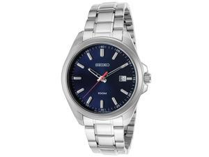 Men's Stainless Steel Navy Blue Dial