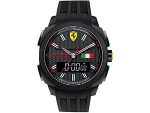 Ferrari Men's 46mm Chronograph Black Steel Bracelet & Case Quartz Watch 0830196