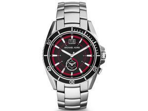 Michael Kors Men's 45mm Silver Steel Bracelet & Case Mineral Glass Watch MK8401