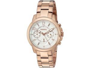 FOSSIL WOMEN'S 37MM ROSE GOLD-TONE STEEL BRACELET & CASE QUARTZ WATCH ES4035
