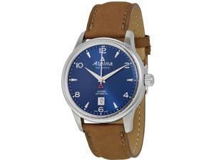 ALPINA MEN'S ALPINER 41.5MM LEATHER BAND STEEL CASE AUTOMATIC WATCH AL-525N4E6