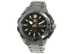SEIKO MEN'S BLACK STEEL BRACELET & CASE AUTOMATIC ANALOG WATCH SRPA31K1
