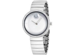 MOVADO WOMEN'S DIAMOND 34MM STEEL BRACELET & CASE QUARTZ ANALOG WATCH 3680033