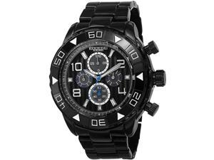 Akribos XXIV Men's 49.5mm Chronograph Black Metal Metal Case Watch AK814BK