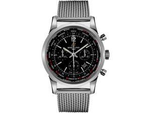 Breitling Men's Transocean 46mm Steel Bracelet Automatic Watch AB0510U6/BC26SS