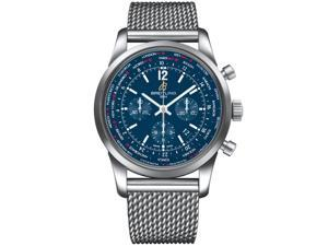 Breitling Men's Transocean 46mm Steel Bracelet Automatic Watch AB0510U9/C879SS