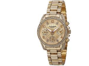 Akribos XXIV Multi-Function Gold Dial Gold-tone Alloy Ladies Watch AK710YG
