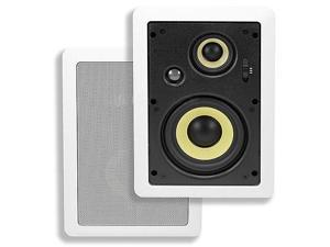 Mono 5-1/4 Inches 3-Way High Power In-Wall Speaker (Pair)