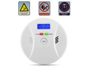 Carbon Monoxide Detector Smoke Fire Alarm Sound Combo Sensor Battery Operated