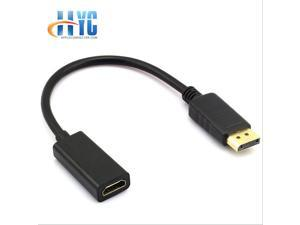 DP Display port Displayport Male to HDMI Female Converter Adapter Black/white DP to hdmi Displayport to HDMI Adapter Black M/F HD 1080P AV Converter