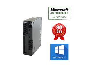Lenovo Computer M91p USFF i5 QuadCore 2400S 2.5Ghz, 8G DDR3, 250GB, DVDRW, Windows 10 professional 64 bits, 90 days Warranty from seller, Power Cord