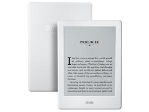 "All-New Kindle E-reader - White, 6"" Glare-Free Touchscreen Display, Wi-Fi - Includes Special Offers"