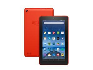 Fire Tablet, 7 inch Display, Wi-Fi, 16 GB - Includes Special Offers, Tangerine