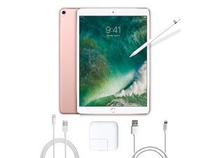 2017 New iPad Pro Bundle (3 Items): Apple 10.5 inch iPad Pro with Wi-Fi 256 GB Rose Gold, Apple Pencil and Mytrix USB Apple Lightning Cable