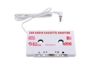 Car Audio Tape Cassette Adapter for iPhone iPod Nano CD MP3 Converter White