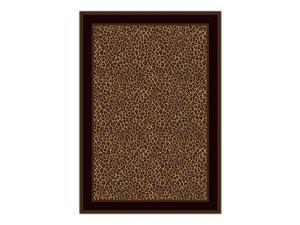 "Pastiche Bloques Brown Leather Rug Rug Size: 3'10"" x 5'4"""
