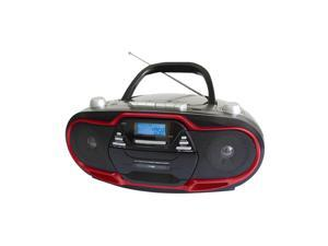 Supersonic SC745 CD/MP3 Boombox with AM/FM Radio, Red