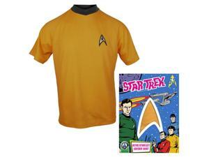 Star Trek: TOS Adult Starfleet Command Gold Shirt: Large