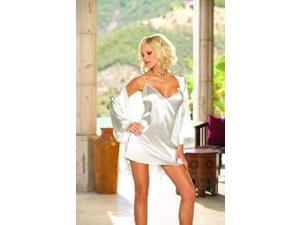 Bride Robe and Babydoll Set (White) Adult - Large