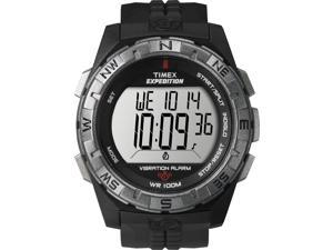 Timex Men's Expedition Rugged Digital Vibration Black Case & Strap Watch T49851