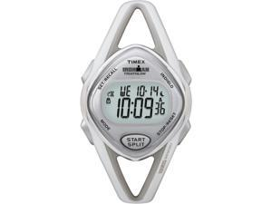 Timex Digital Women's Watch - 50-Lap Mid Size Sleek SS Premium | White Case