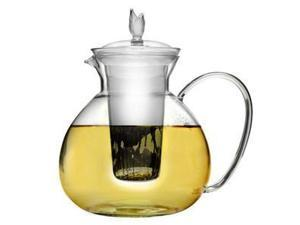 Primula Asha Glass Teapot, Includes Infuser and Lid with 2 Flowering Teas, 60-Ounce