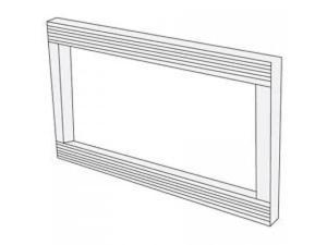 "Sharp  RK48S27 27"" Built-In Trim Kit for Model R551ZS Microwave"