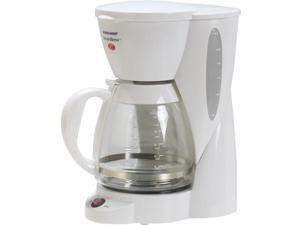 Black & Decker CM1200W 12-Cup Automatic Coffee Maker, White