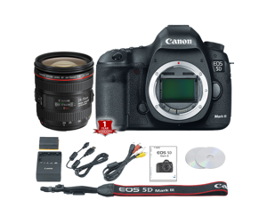 Canon EOS 5D Mark III DSLR Camera (Body Only) (International Model) with 24-70mm f/4L USM Lens Kit