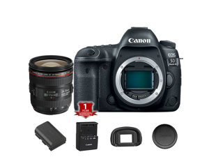 Canon EOS 5D Mark III DSLR Camera (Body Only) (International Model) with 24-70mm f/4L Lens Kit