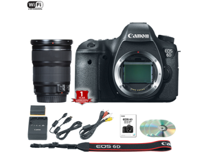 Canon EOS 6D DSLR Camera (Body Only) (International Model) with 24-105mm STM Lens Kit