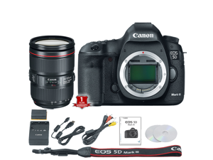 Canon EOS 5D Mark III DSLR Camera (Body Only) (International Model) with 24-105mm f/4 Lens Kit