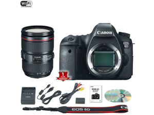 Canon EOS 6D DSLR Camera (Body Only) (International Model) with 24-105mm f/4 II Lens Kit