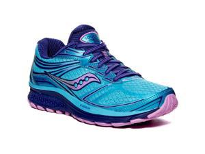Saucony S10295-5 Guide 9 Running Shoes, Blue/Purple/Pink, US 7.5
