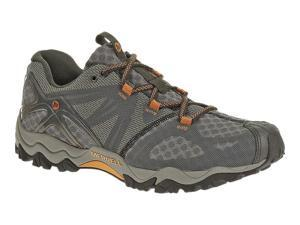 Merrell J24725 Men's  Grassbow Air Hiking Shoes, Dark Grey/Orange, 8 M US