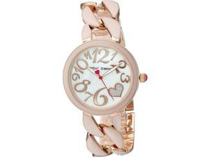 Betsey Johnson BJ00329-06 Women's Chained Up Analog Display Automatic Watch, Pink Alloy Band, Round 38mm Case