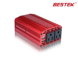 Bestek MRI3011BU 300w Dual 110V AC Outlets and Dual USB 3.1A Power Inverter