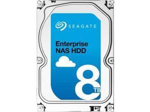 "Seagate Enterprise NAS HDD 8TB 7200RPM 256MB Cache SATA 6.0GB/s 3.5"" Internal Bare Drive ST8000NE0001"