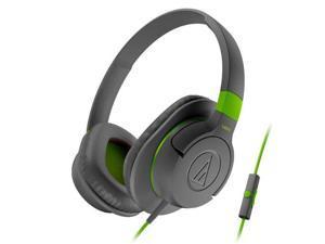 Audio-Technica ATH-AX1iS SonicFuel Over-Ear Headphones for Smartphones (Grey)